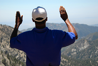 Prayer on Mount Baldy
